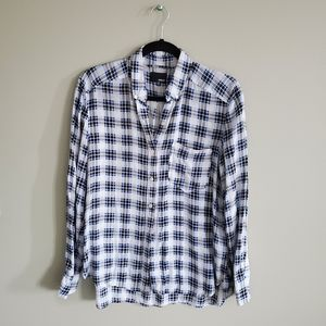 Wilfred Free Blue Printed Button Down Shirt XS